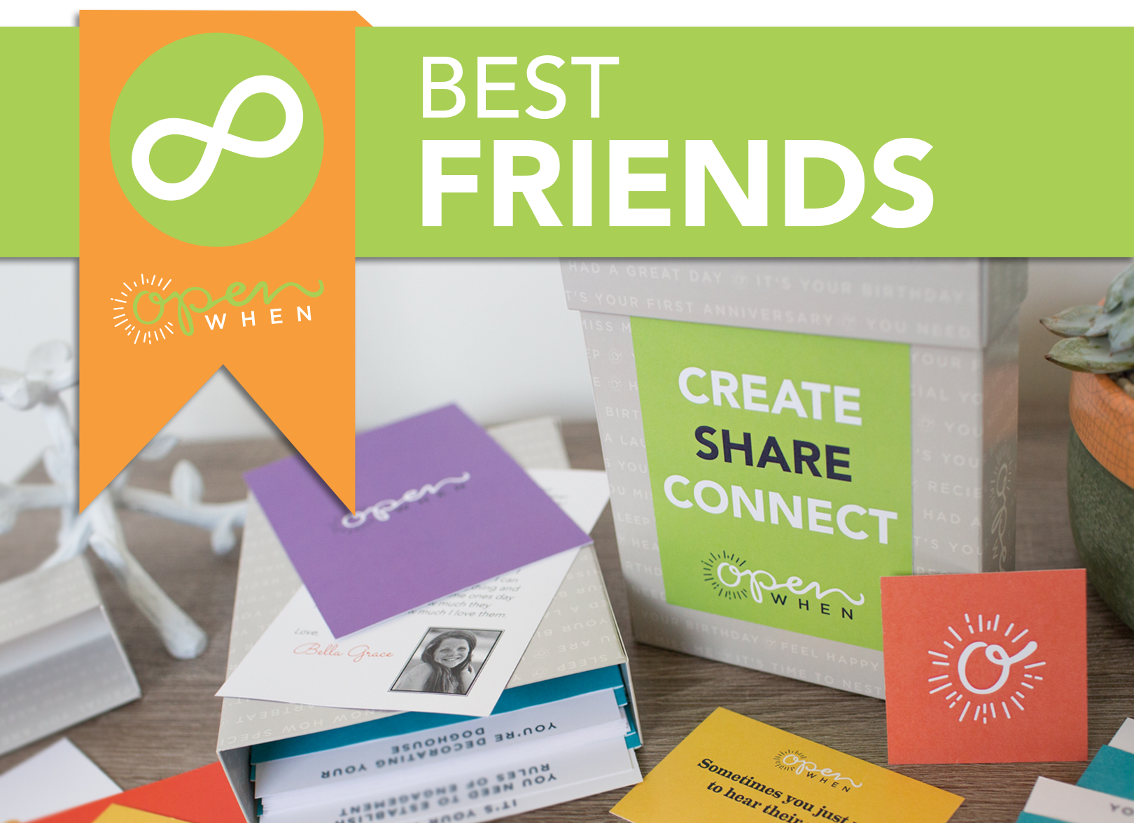 Best Friends  Open When  Customizable Letters Cards And Gift Packs