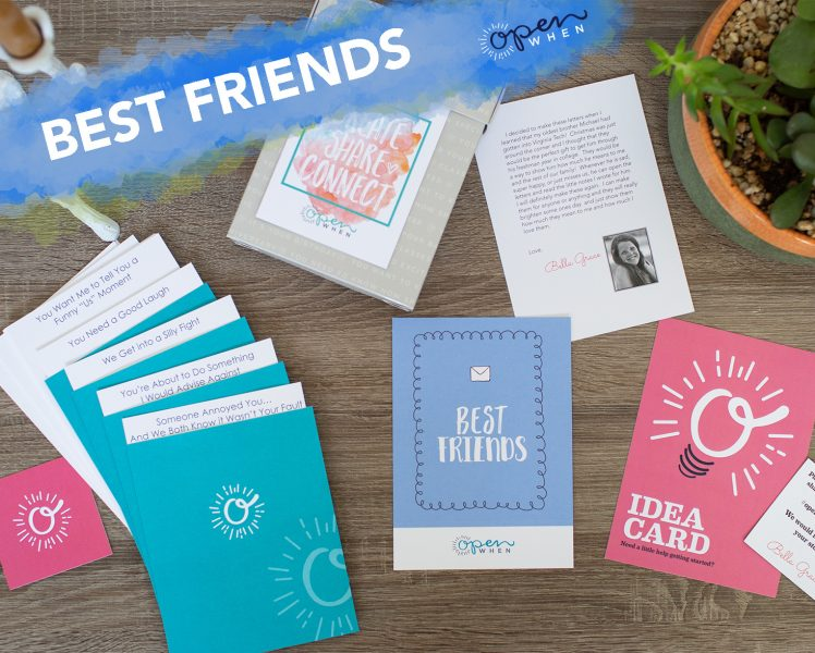 best friends open when gift card letter pack