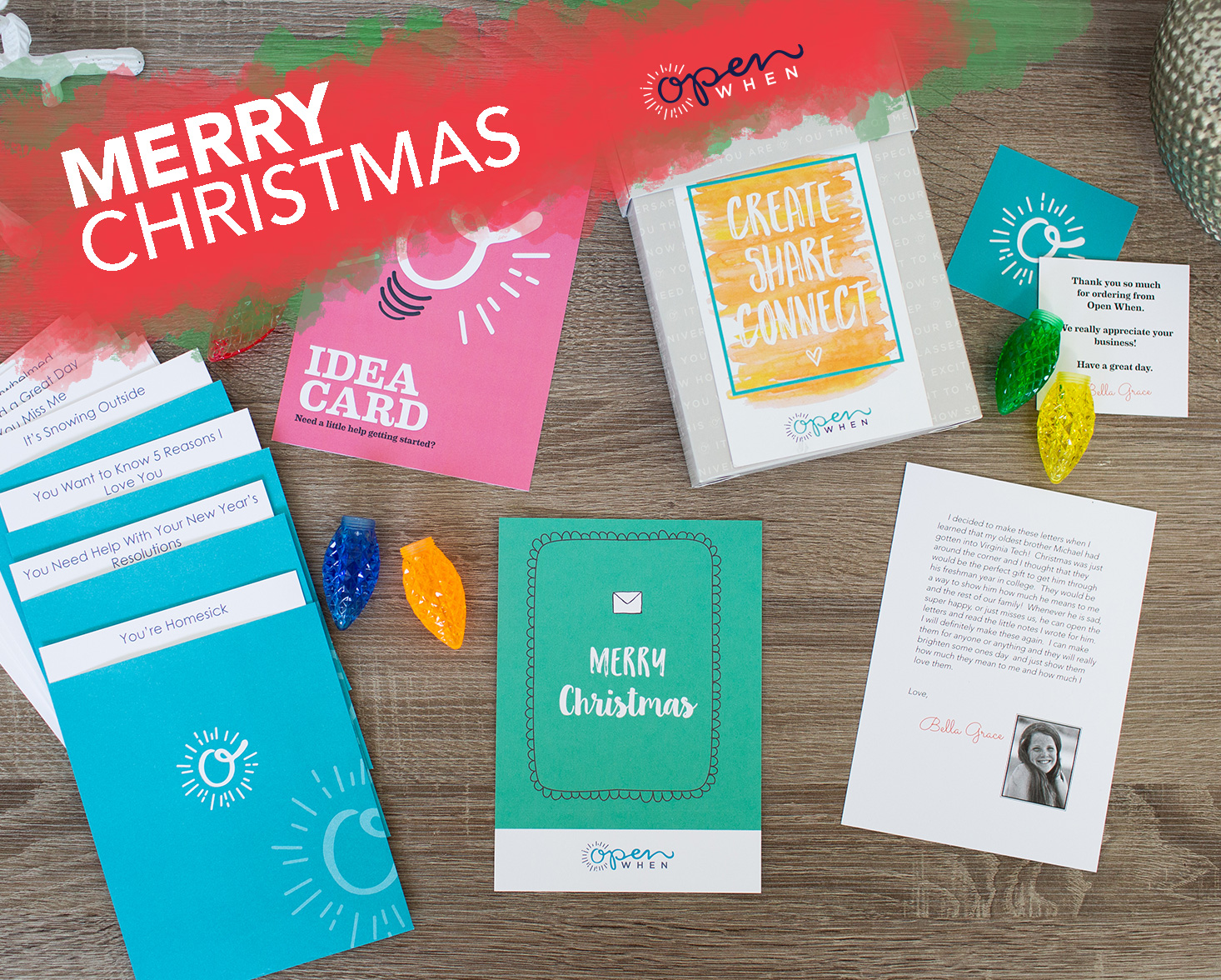 open when letters merry christmas gift pack