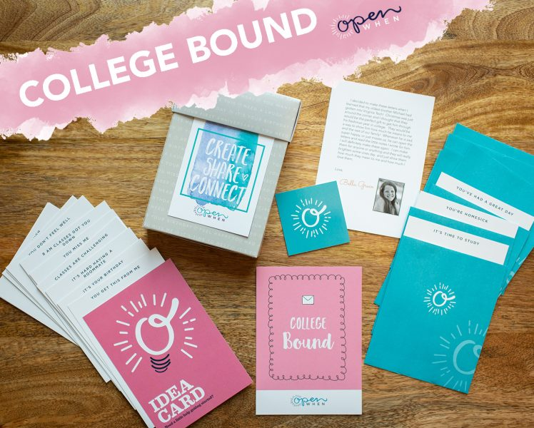 college bound open when letters gift pack