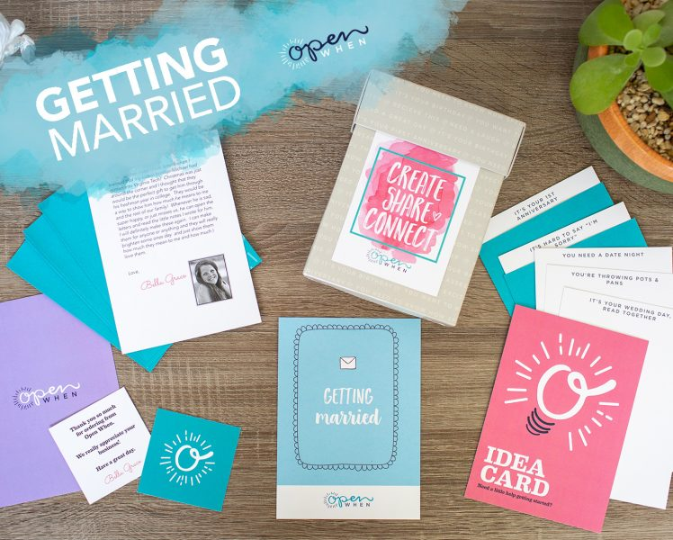 getting married open when letters gift pack