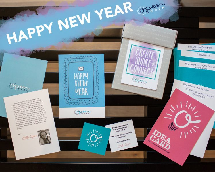 happy new year open when letters gift pack