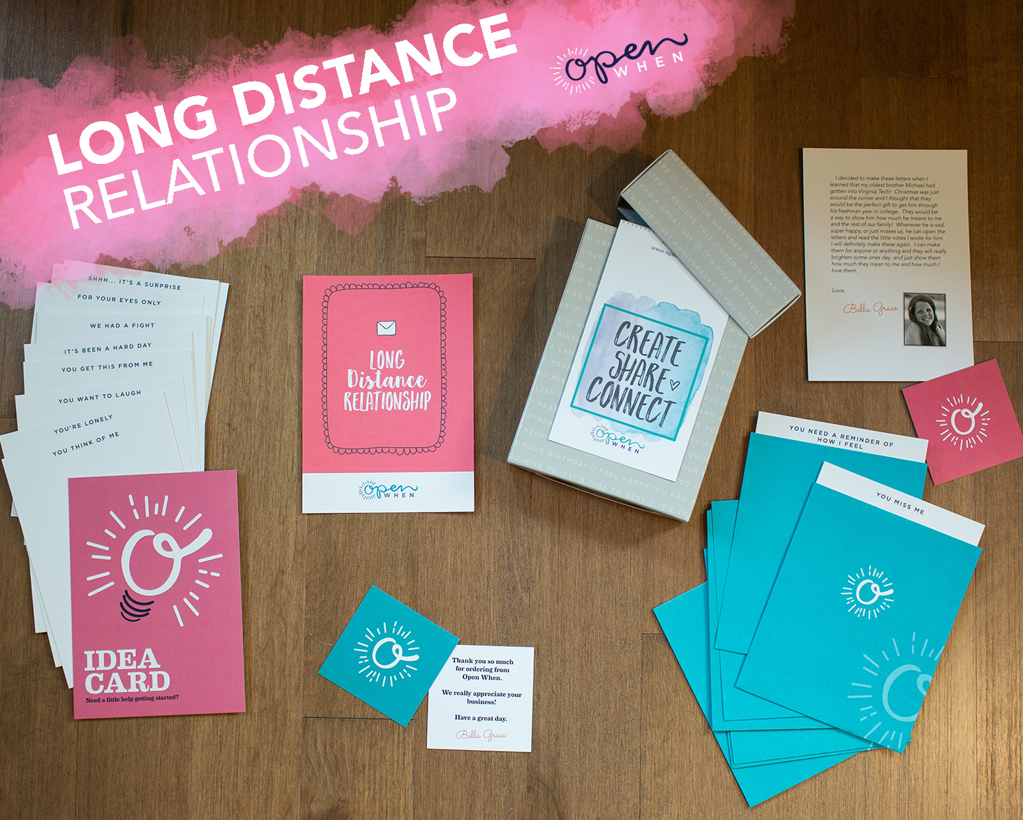 long distance relationship open when letters gift pack