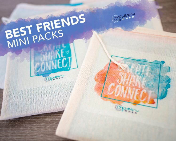 best friends open when letters gift pack