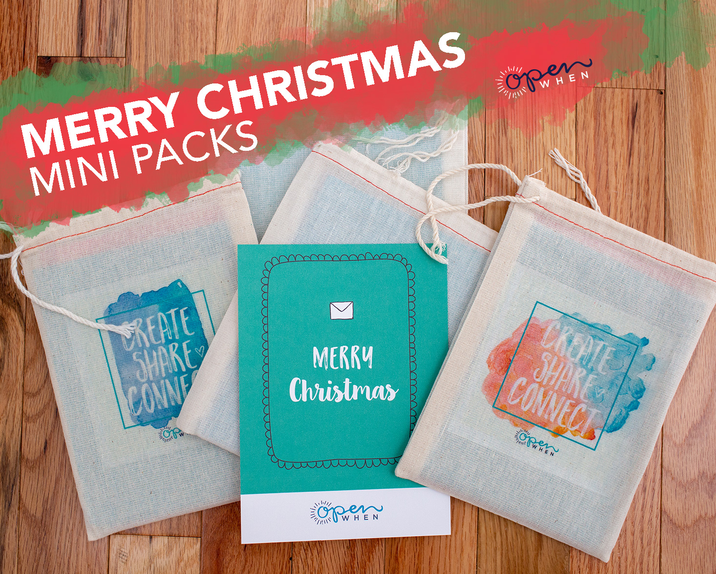 merry christmas open when letters gift pack