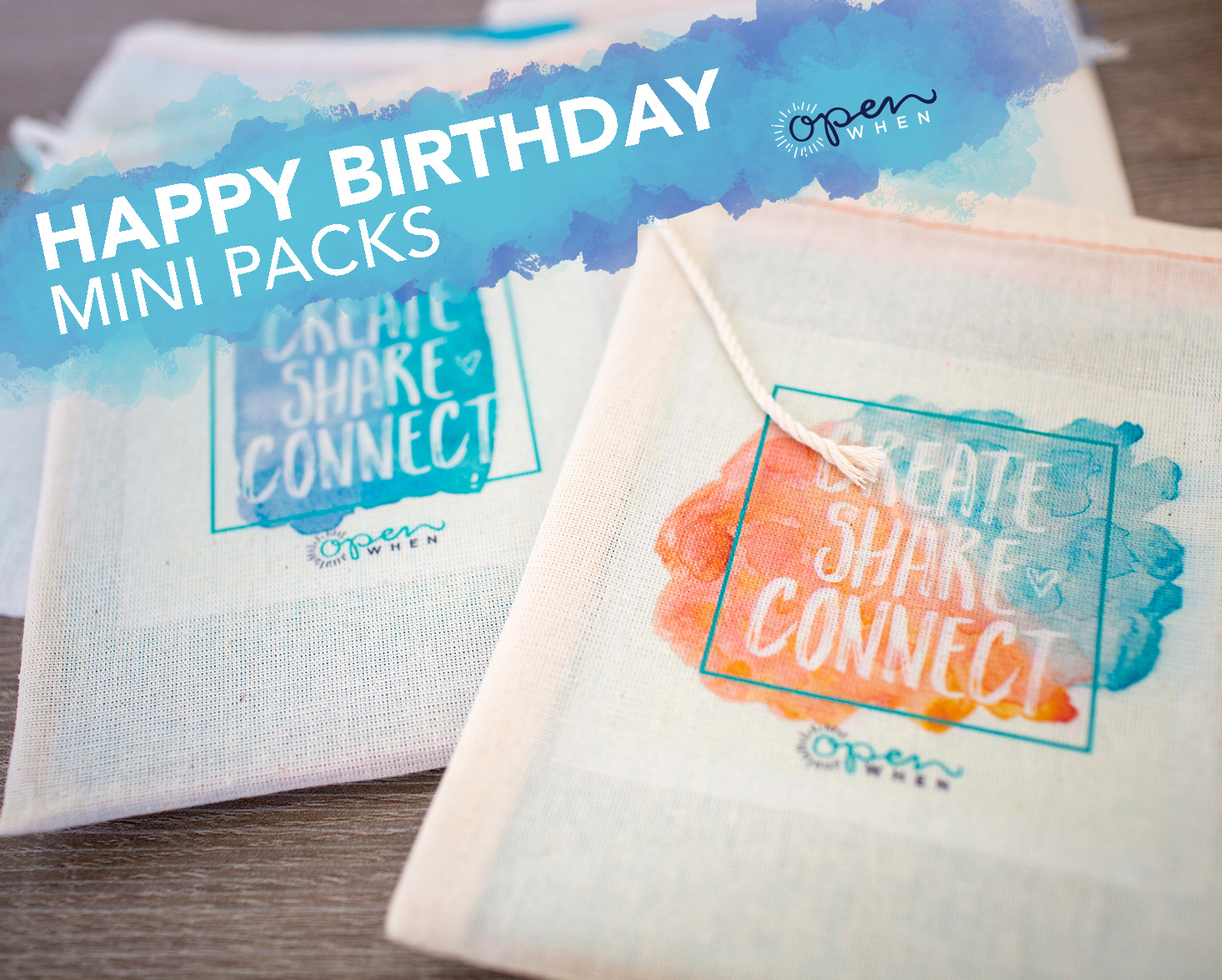 happy birthday open when letters gift pack