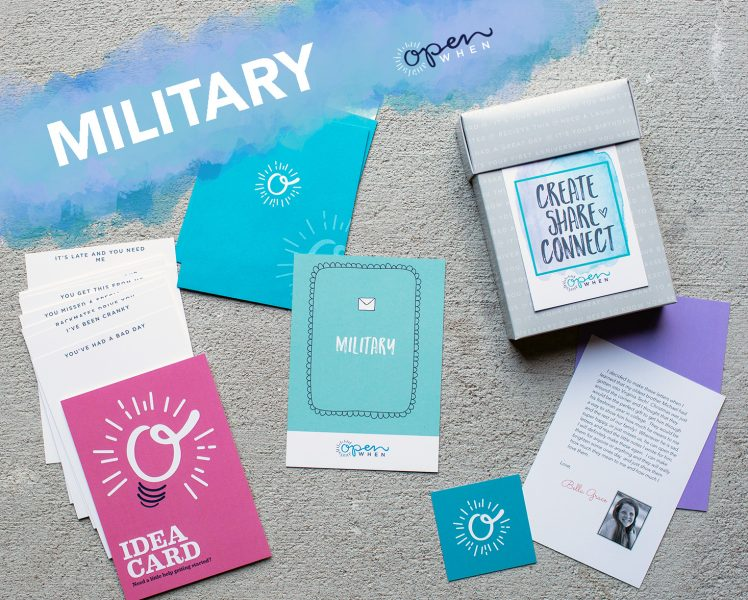 military deployment open when letters gift pack