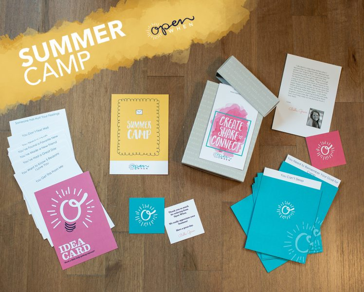 summer camp open when letters gift pack